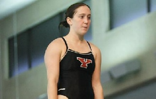 Casey Hill Sweeps Diving Events vs. Clarion; HL Diver of the Week