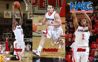 Three Penguin Basketball Players Named to NABC Honors Court