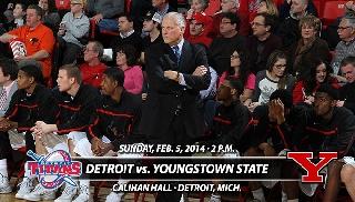 Basketball Closes Road Swing at Detroit