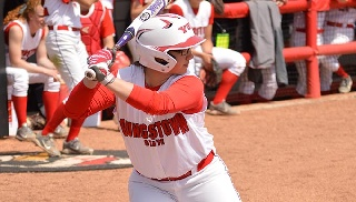 Dowd, Gibson Lead Softball to Split at Charlotte First Pitch Classic