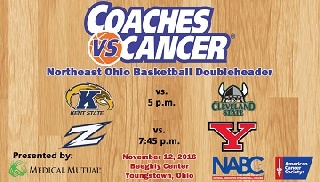 Basketball Hosts Akron in NE Ohio Coaches vs. Cancer Doubleheader Saturday