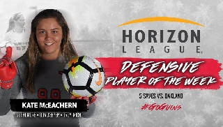 McEachern Named Horizon League Defensive Player Of The Week