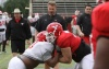 First Day in Pads Goes Well As Spring Football Moves Forward